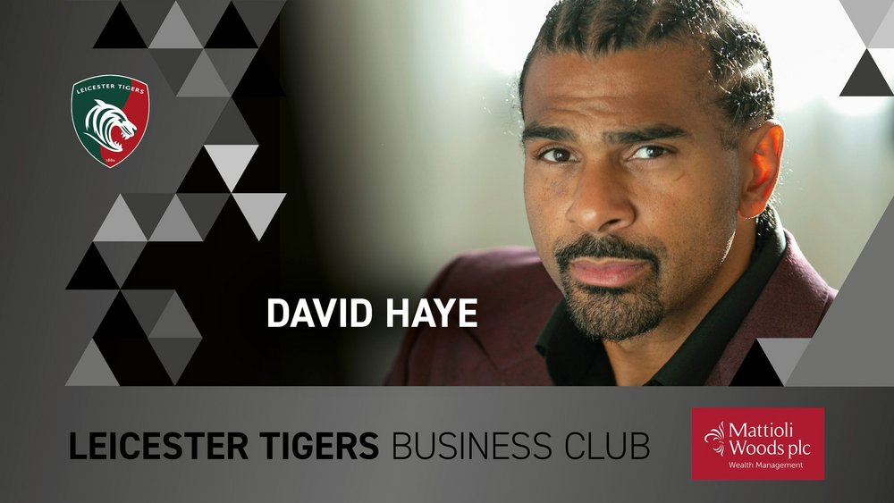 Leicester Tigers Business Club with David Haye