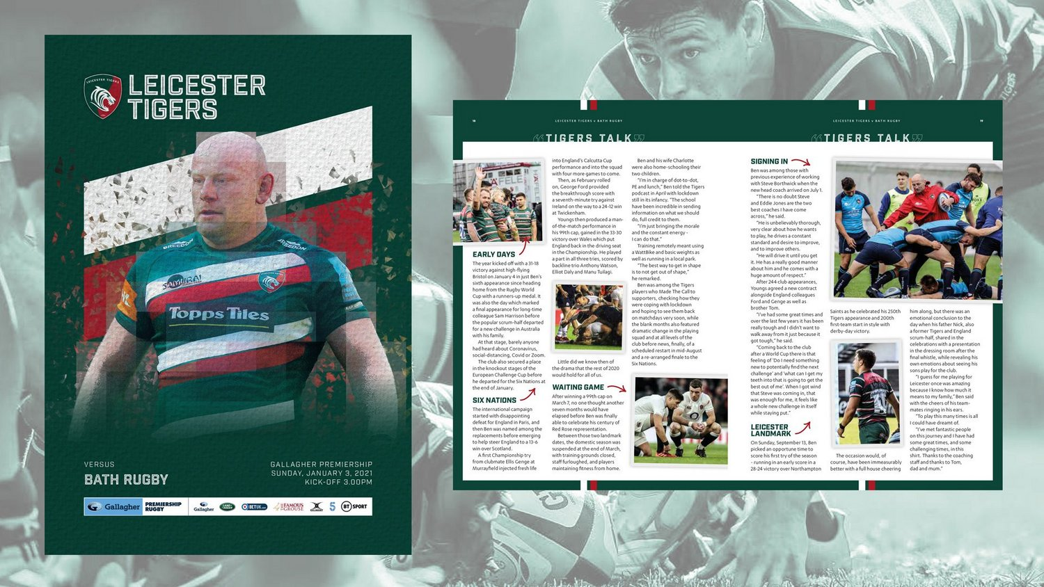 Leicester Tigers v Bath Rugby 2020-21 - Digital Matchday Programme