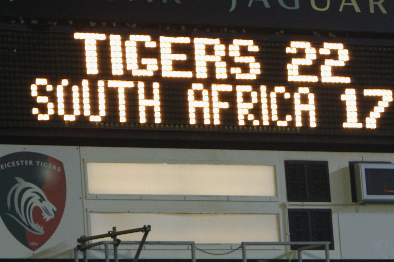 Tigers v South Africa scoreboard