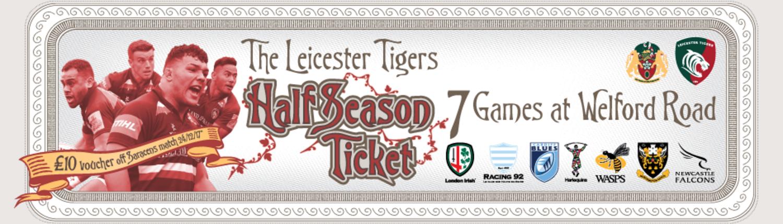Leicester Tigers Half Season Tickets