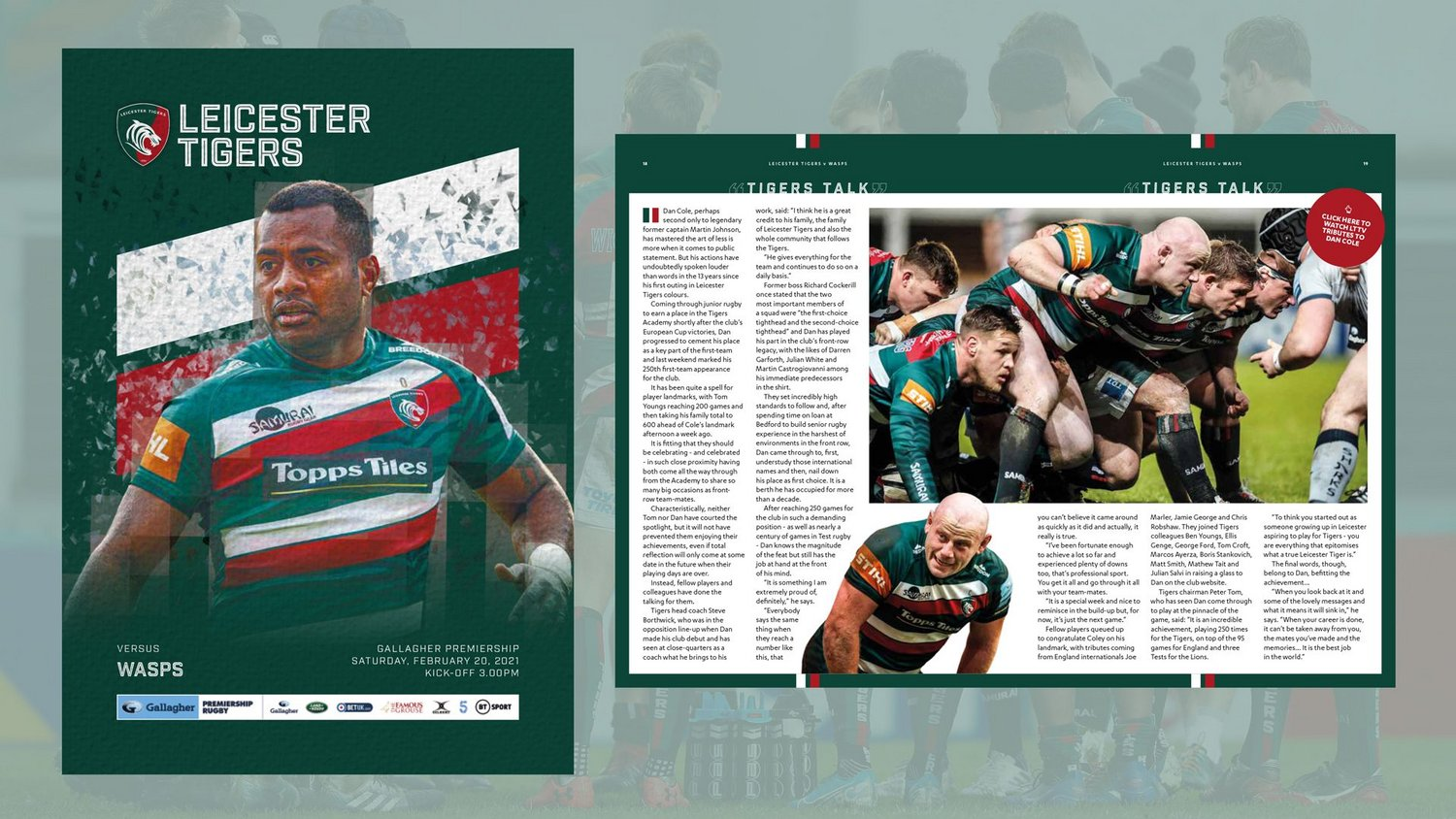 Leicester Tigers v Wasps 2020-21 - Digital Matchday Programme