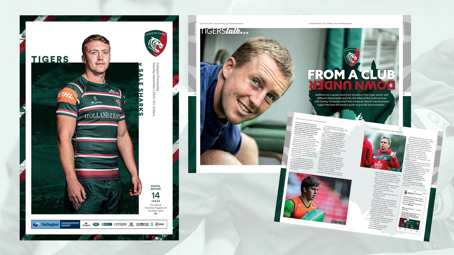 Leicester Tigers v Sale Sharks Digital Matchday Programme