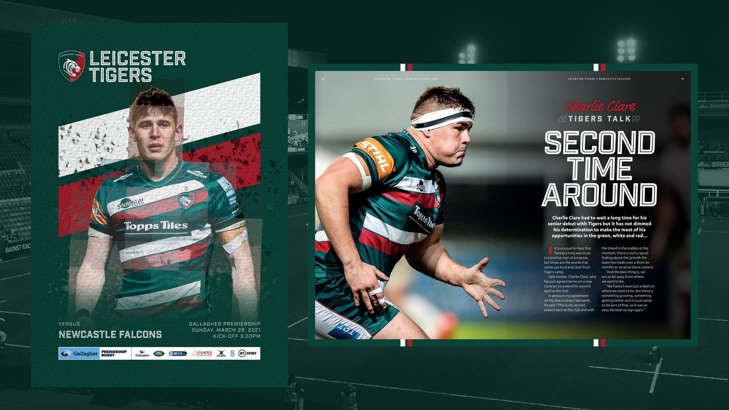 Leicester Tigers v Newcastle Falcons 2020-21 - Digital Matchday Programme