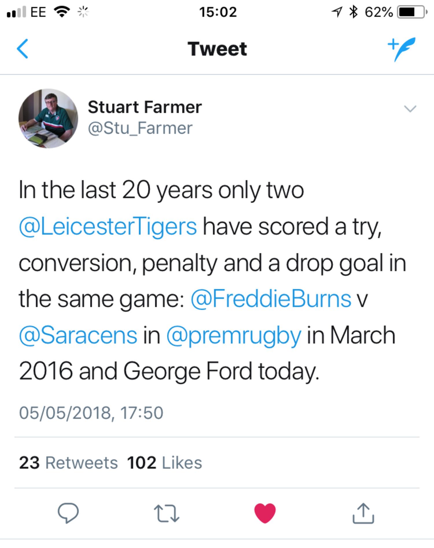 Stuart Farmer on Twitter
