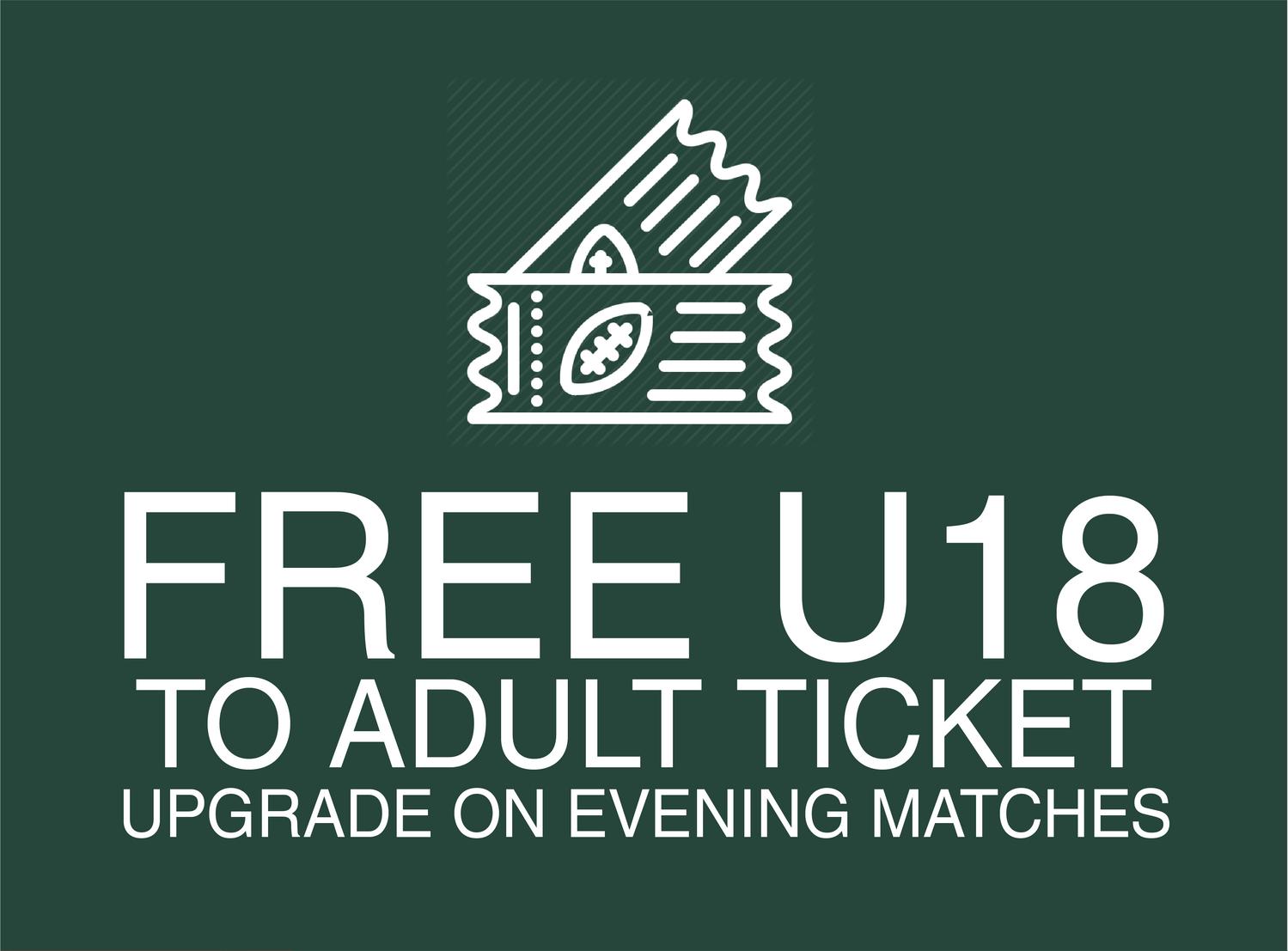 Season ticket benefit free u18