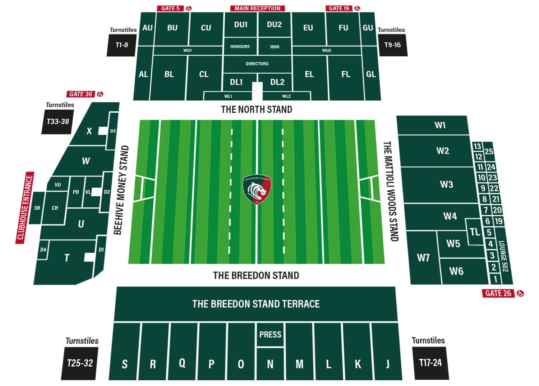 Leicester Tigers Stadium Plan