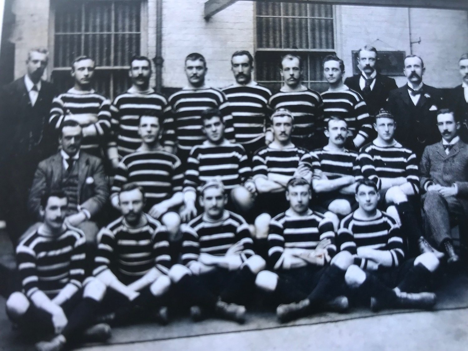 Leicester Tigers 1895/96 team - the first to face Northampton at Welford Road