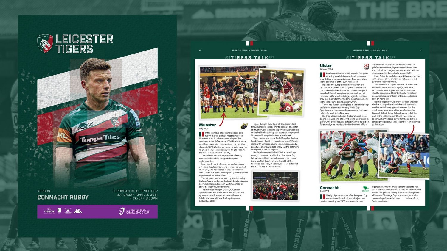 Leicester Tigers v Connacht Rugby 2020-21 - Digital Matchday Programme