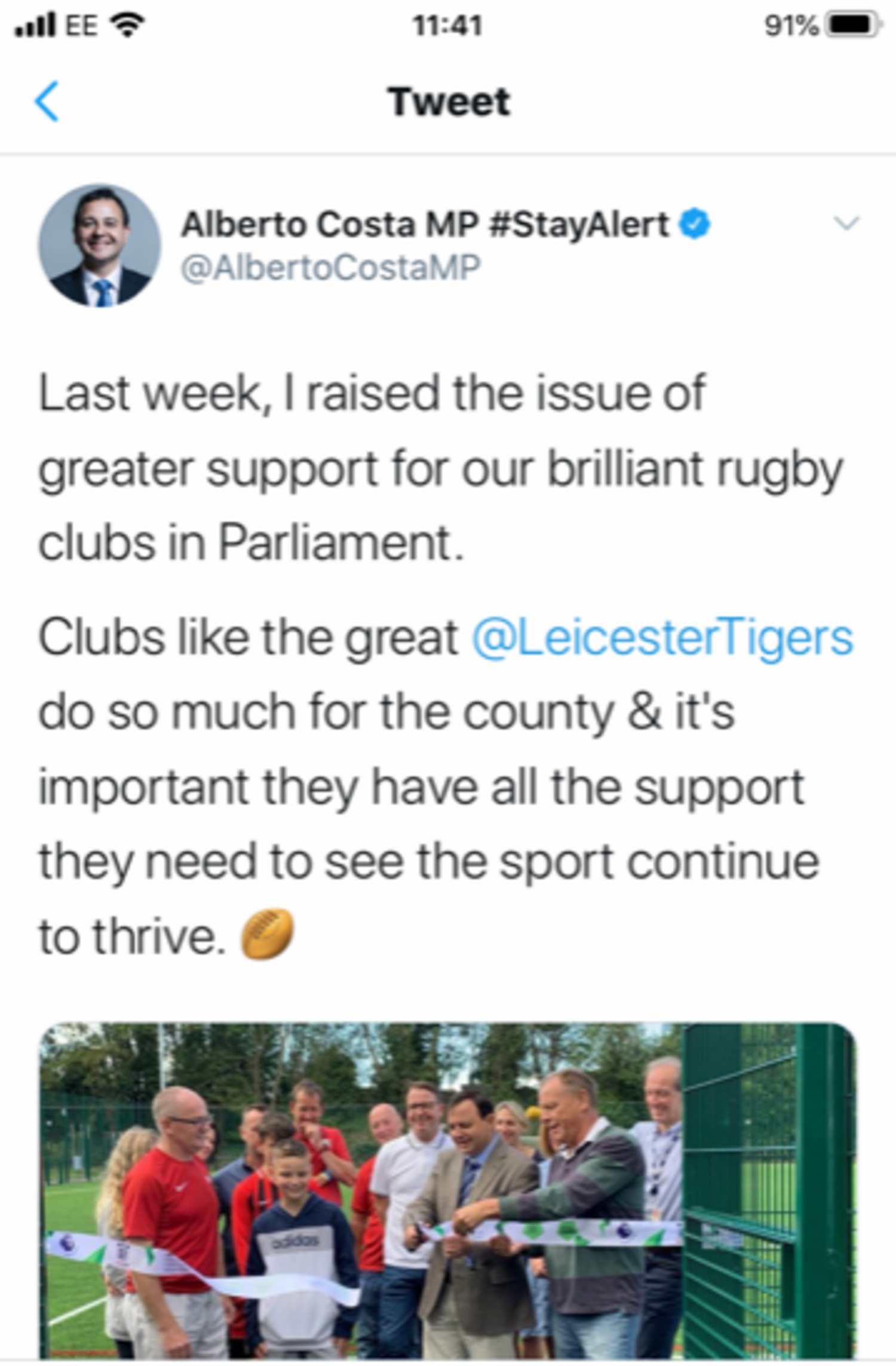 Support for rugby clubs