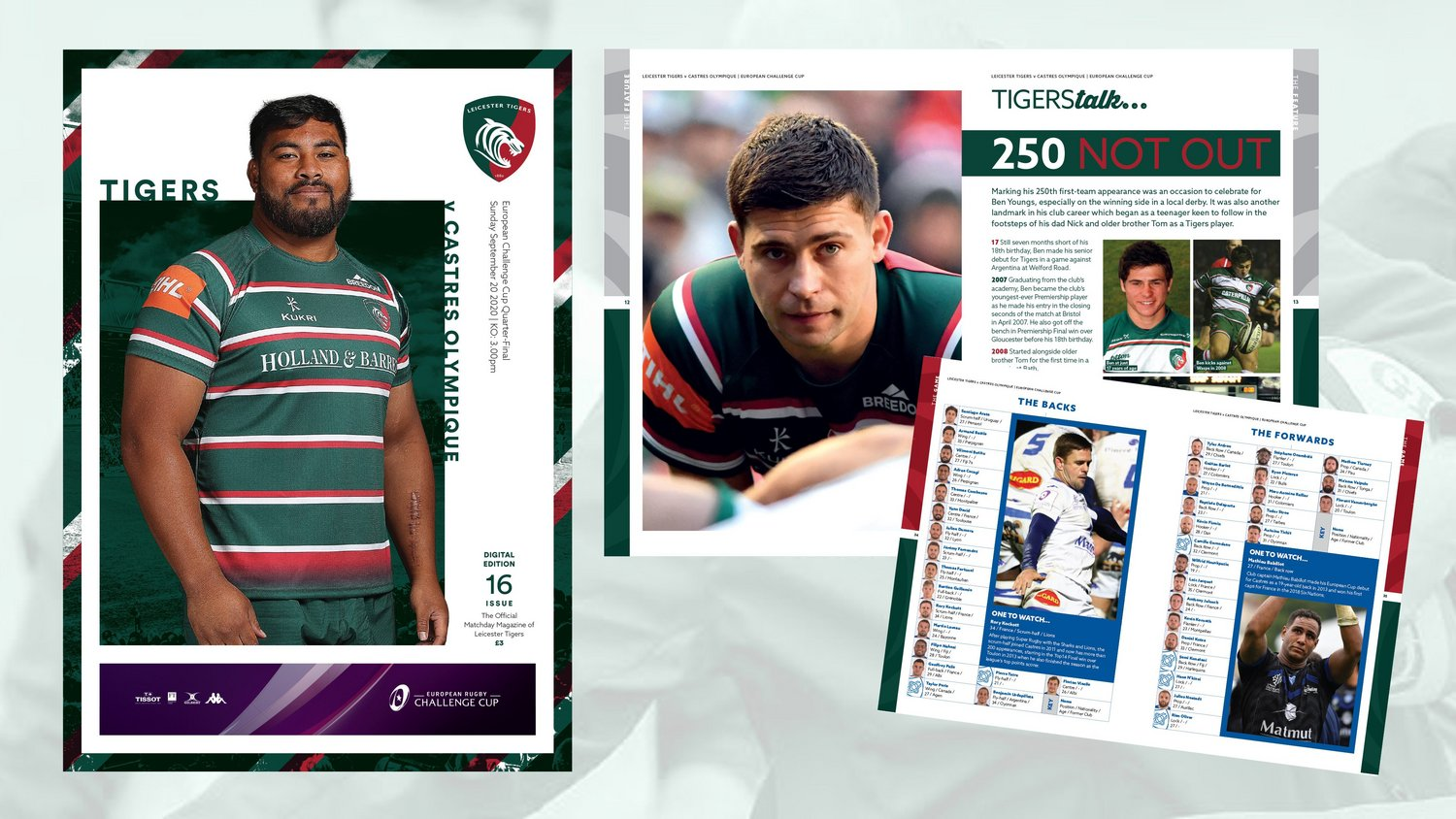 Leicester Tigers v Castres Olympique Digital Matchday Programme