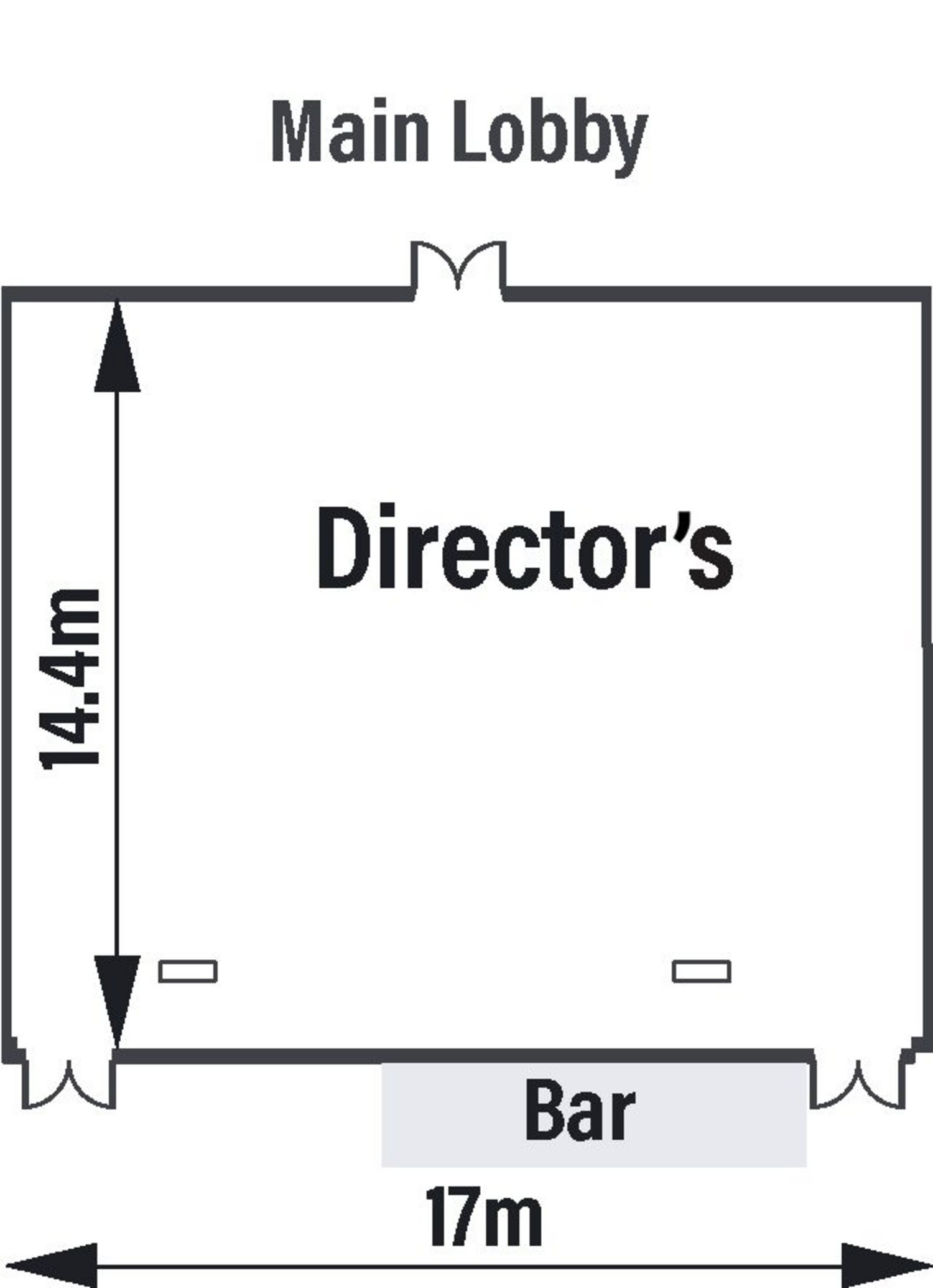 Director's Lounge Floorplan