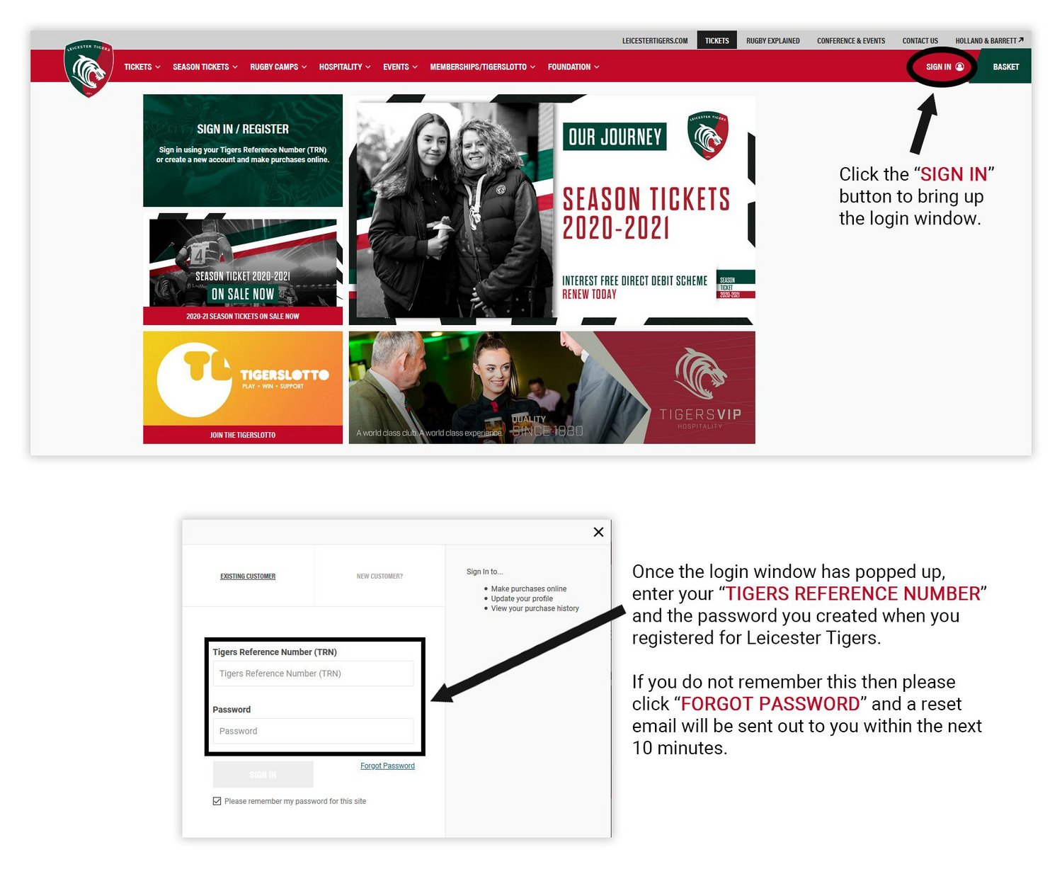 Leicester Tigers information