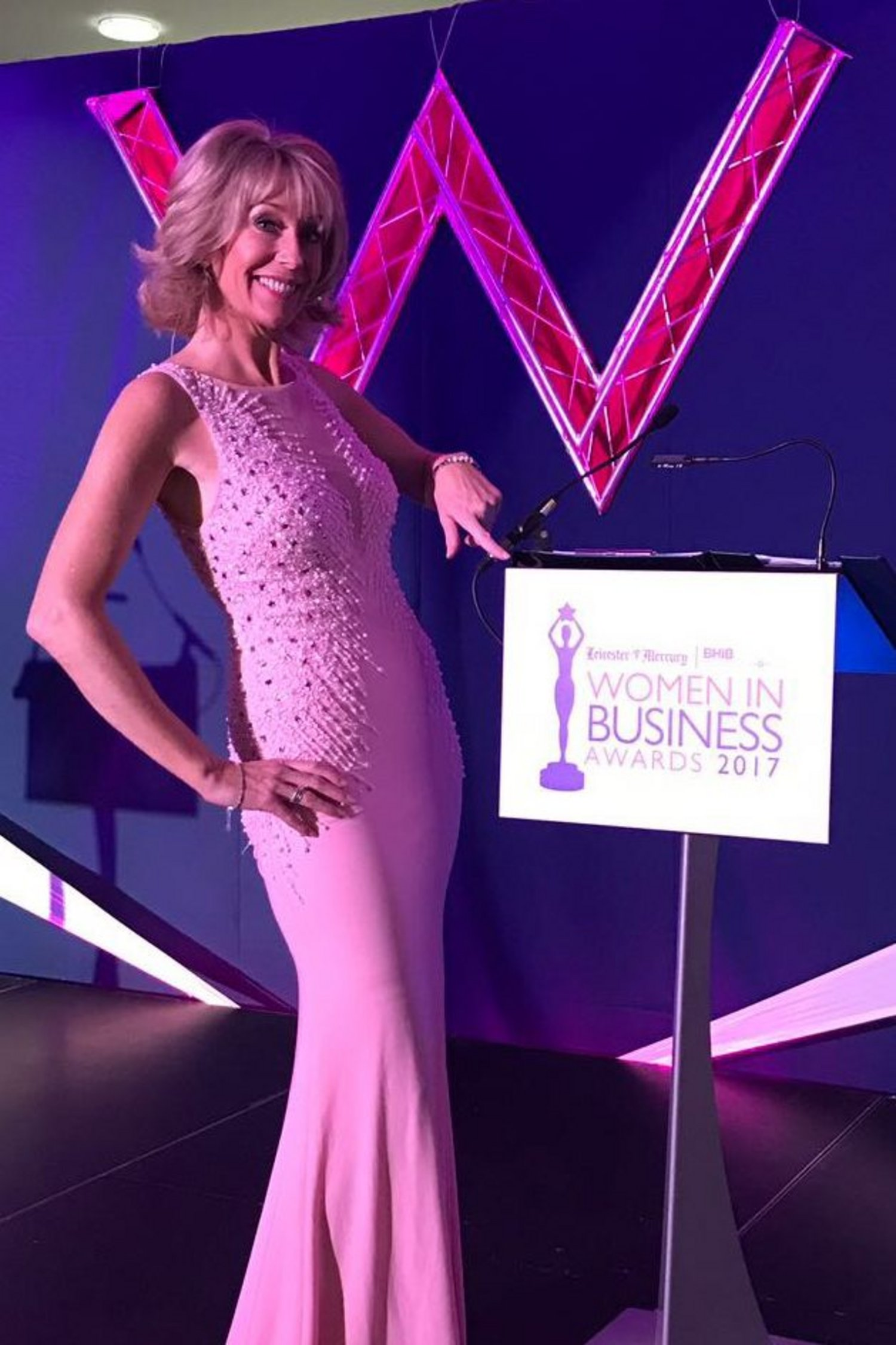 Emma Jesson at the Women In Business Awards