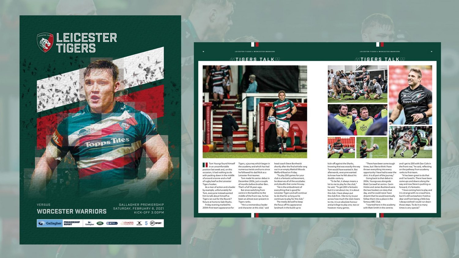 Leicester Tigers v Worcester Warriors 2020-21 - Digital Matchday Programme