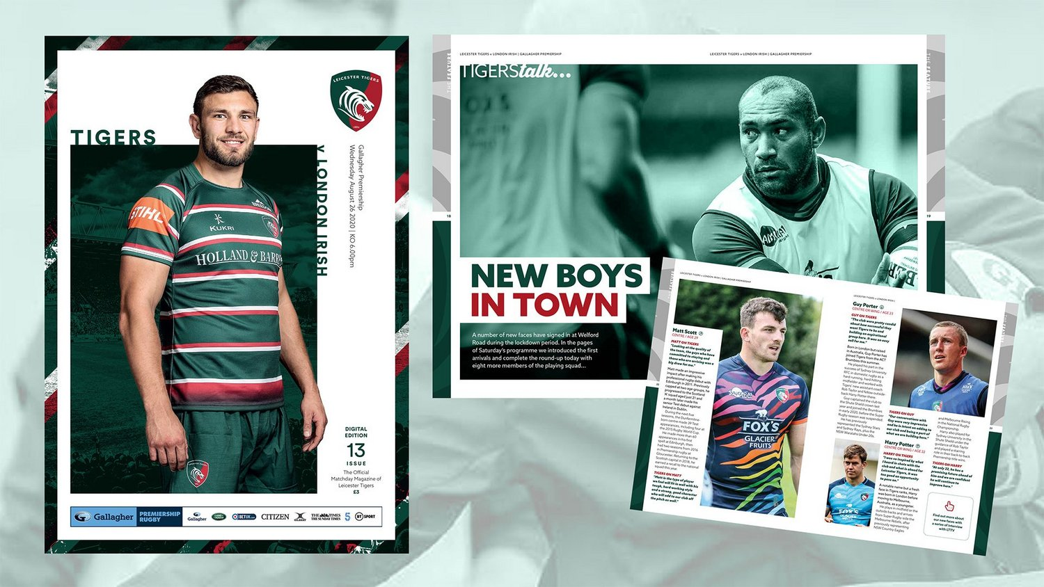 Leicester Tigers v London Irish Digital Matchday Programme