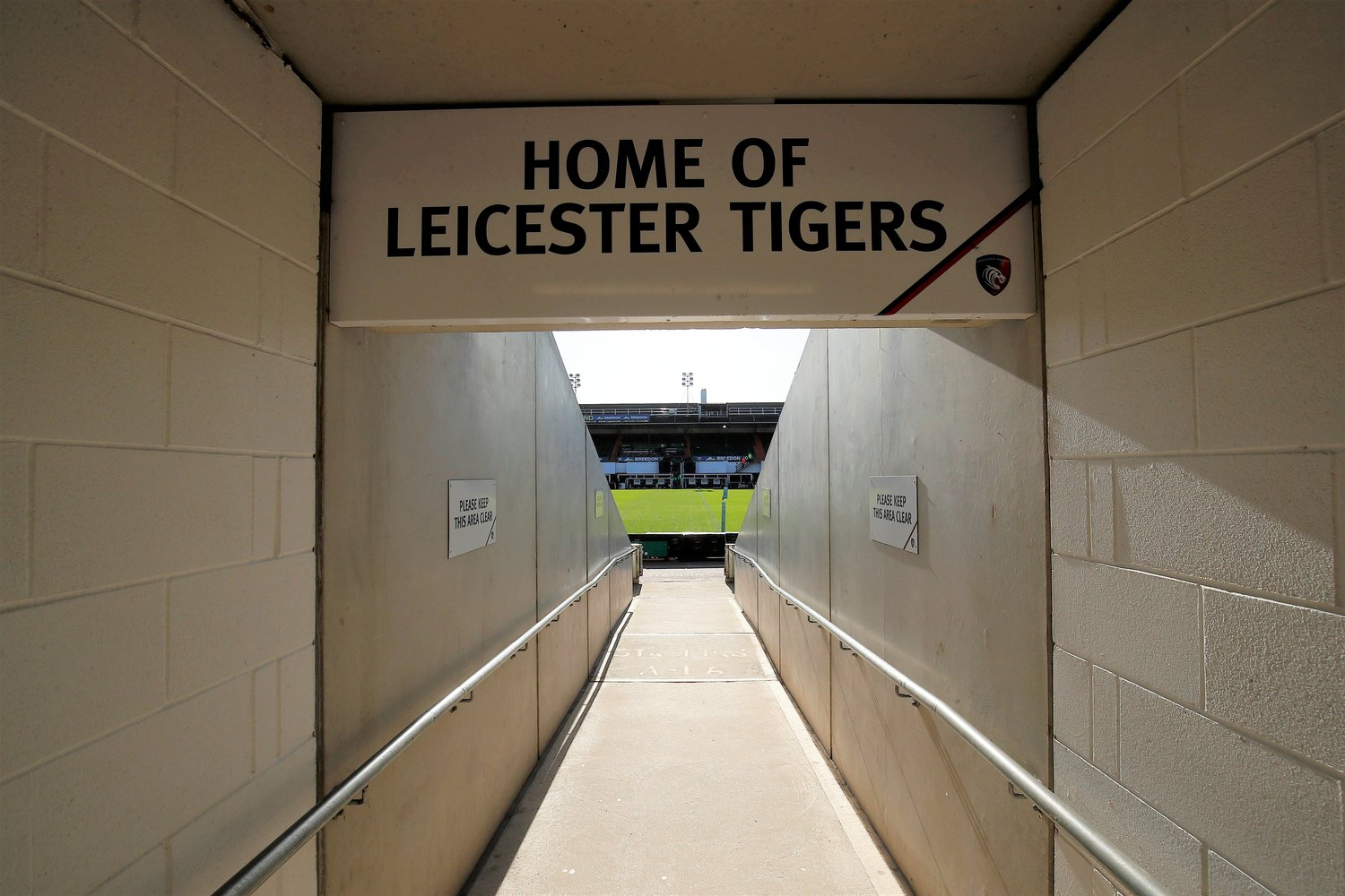 Welford Road stadium tunnel
