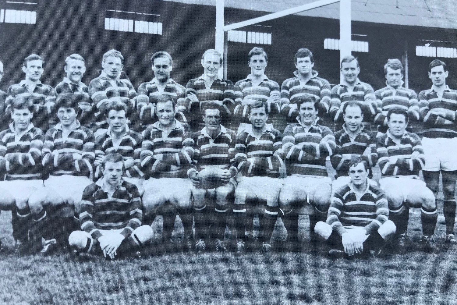 Tigers 1966/67 squad at Welford Road
