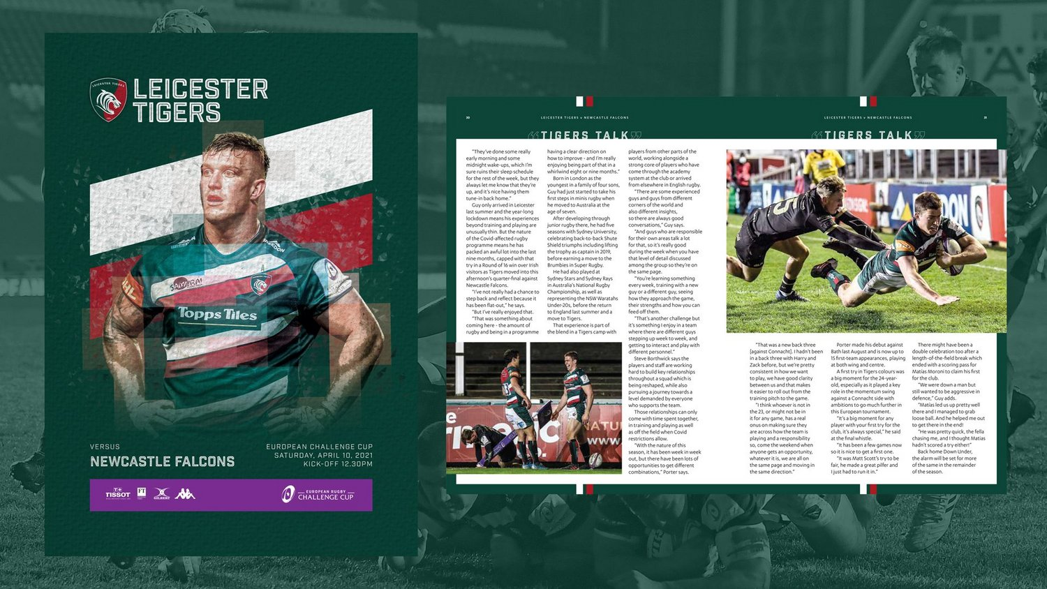 Leicester Tigers v Newcastle Falcons (Quarter-Final) 2020-21 - Digital Matchday Programme