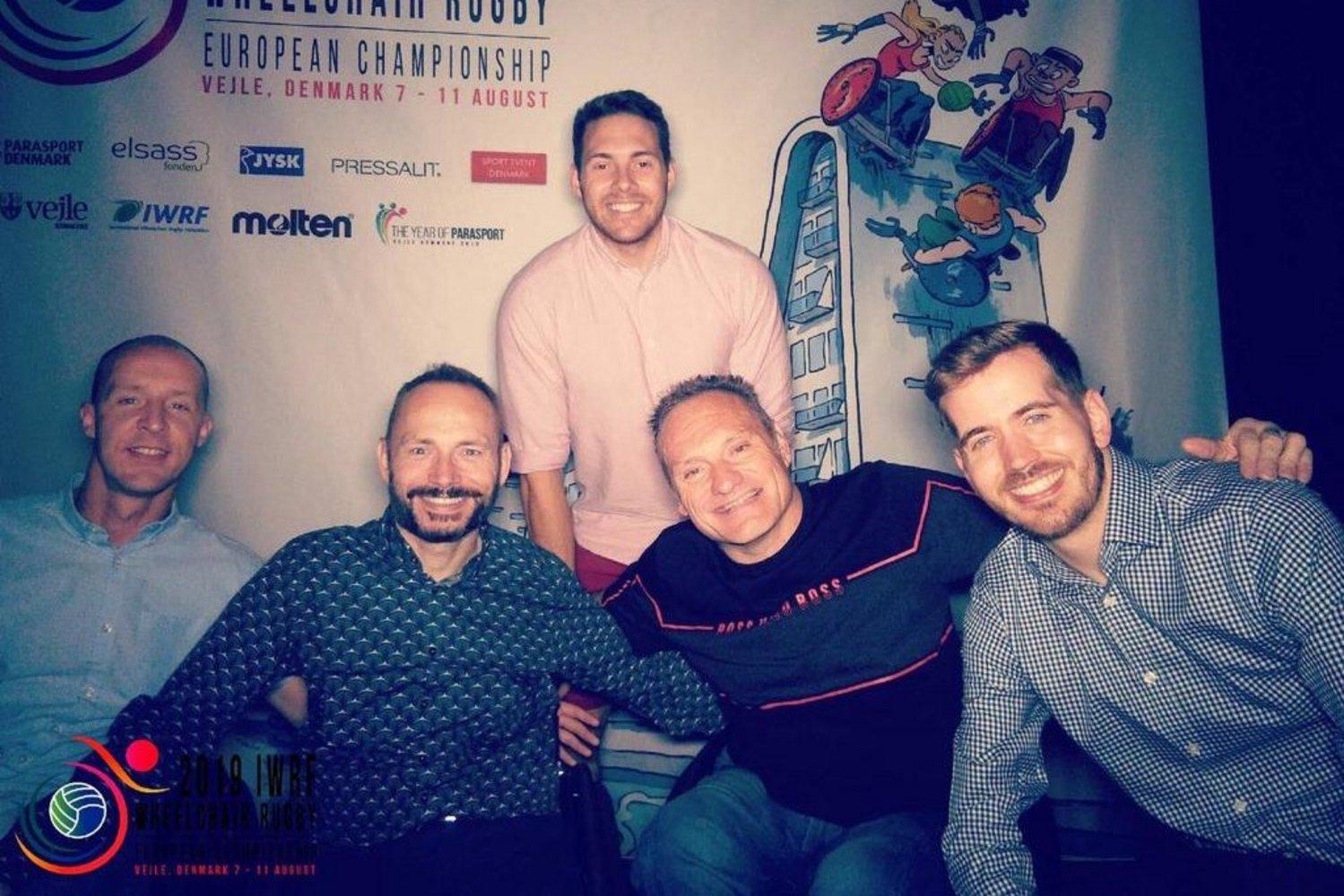 Tigers Gavin Walker, Darren Matthews, Jonathan Roach, Rob Tarr and Nick Cummins