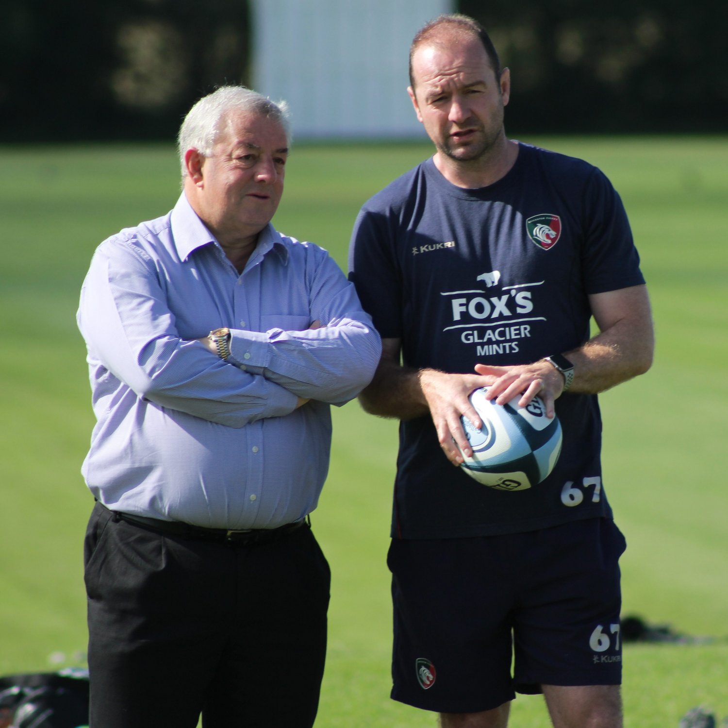 Leicester Tigers CEO Simon Cohen and Director of Rugby Geordan Murphy
