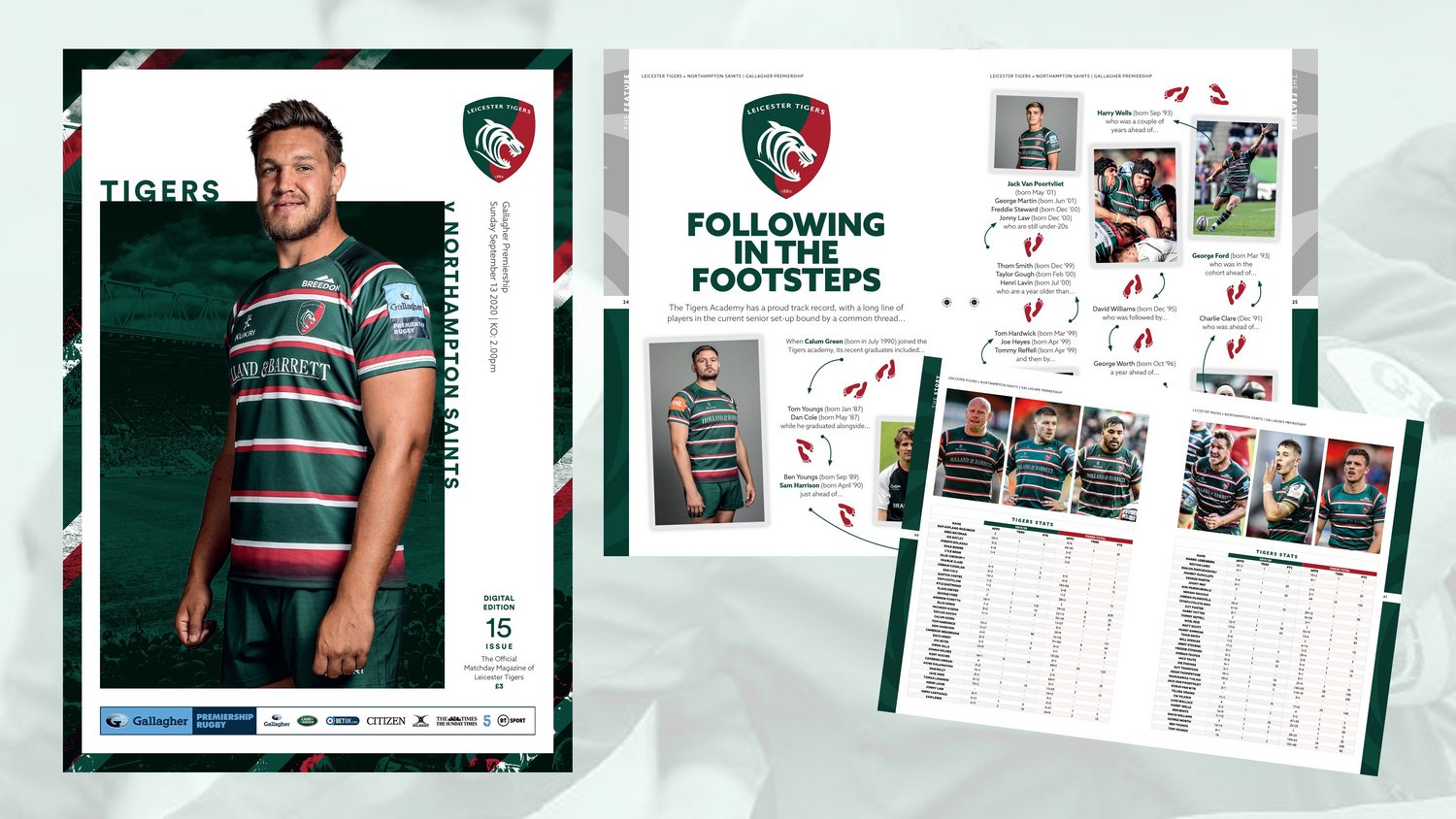 Leicester Tigers v Northampton Saints Digital Matchday Programme
