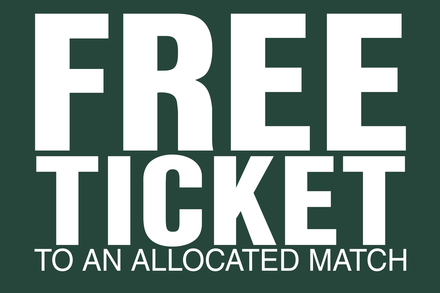 Season Ticket Benefit - free game