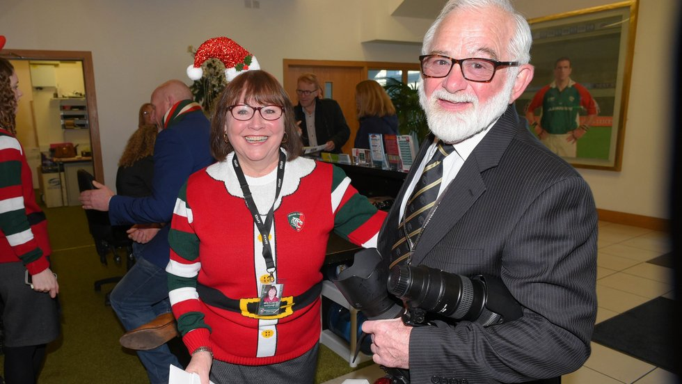Kate Allnutt gets into the spirit at last season's Christmas fixture