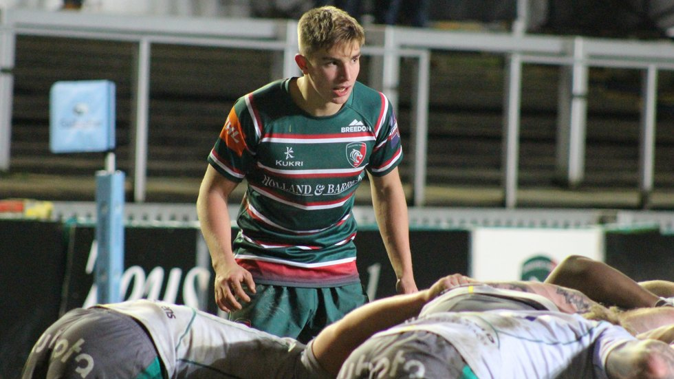 Jack Van Poortvliet is among a number of talented young scrum-halves at the club