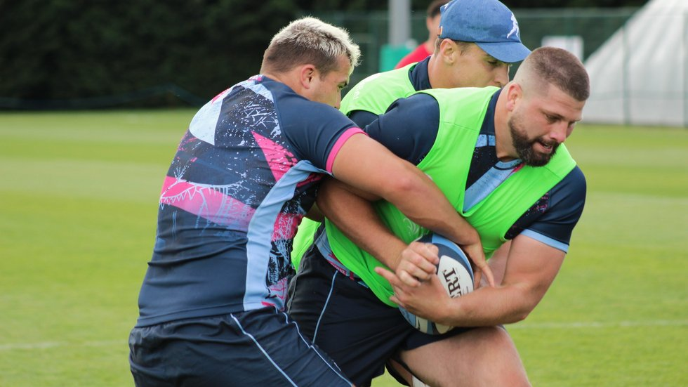 Francois van Wyk makes his first Tigers appearance at prop