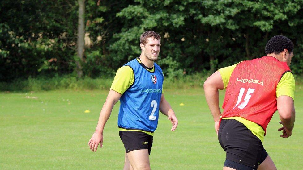 Jonah Holmes at pre-season training
