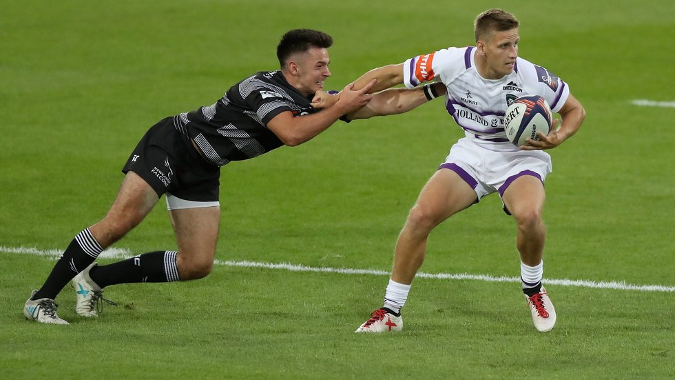 Mike Adlard claimed three tries in two games on the opening evening of the Premiership Sevens