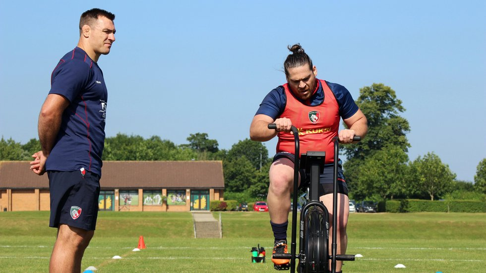 Prop Gaston Cortes takes on a tough Watt Bike session