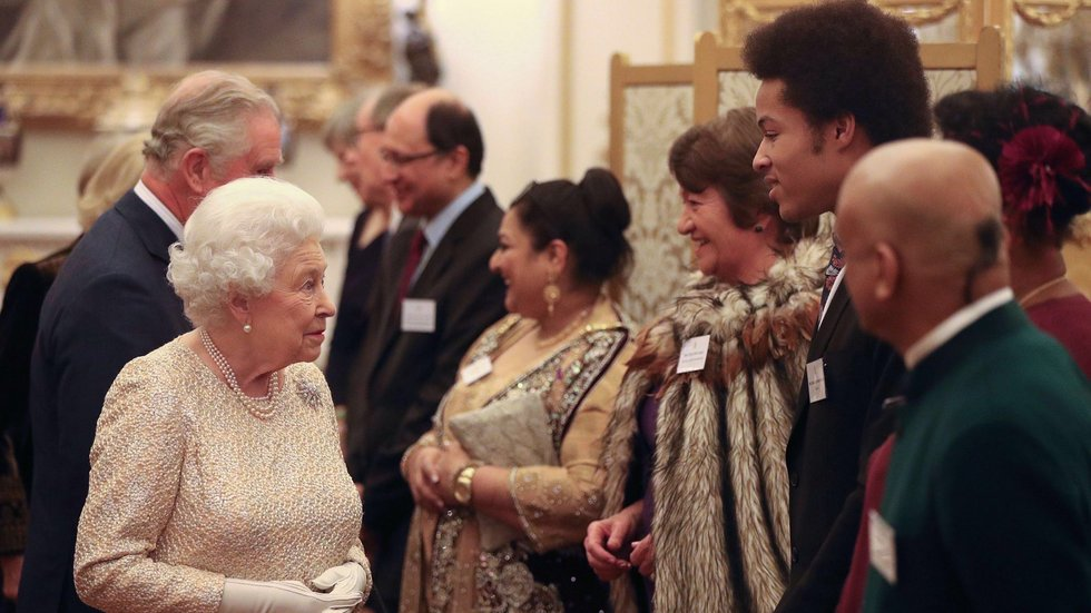 The Queen met guests who have made a positive contribution to the community (c) @RoyalFamily/Twitter