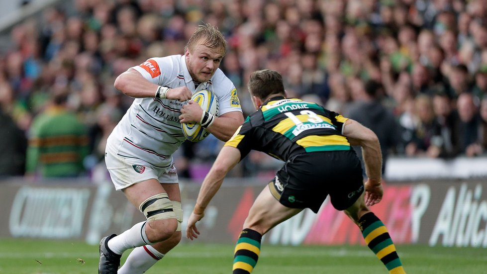 Luke Hamilton in possession during the first encounter against Saints this season