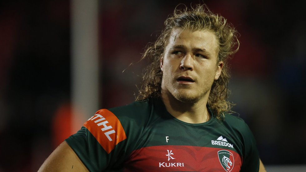 David Denton starts in the back row in his first league appearance for Leicester Tigers