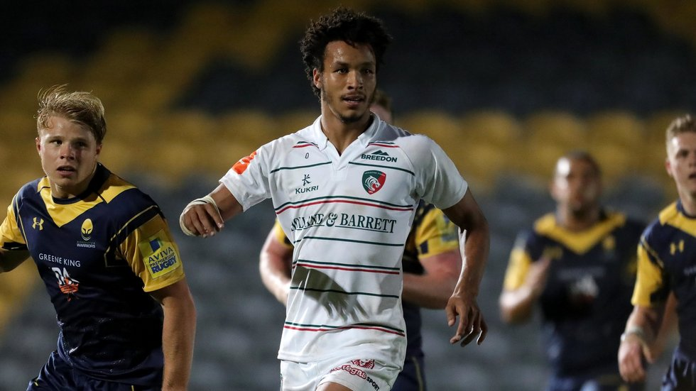 Jordan Olowofela scored three tries in the win at Worcester at the start of the season
