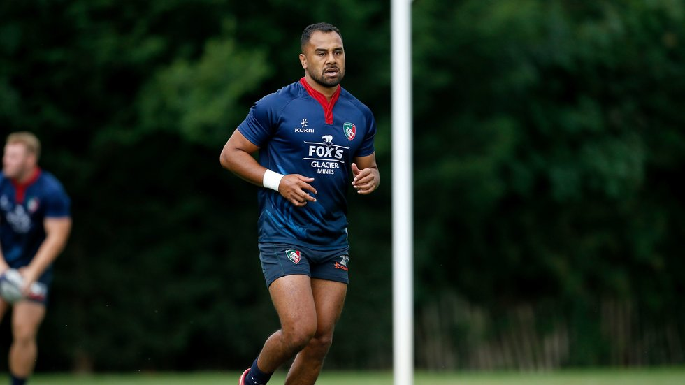 Flying fullback Telusa Veainu out on the pitch during week four of pre-season training at Oval Park.
