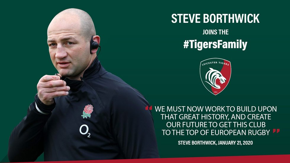 England's Borthwick named Leicester Tigers head coach