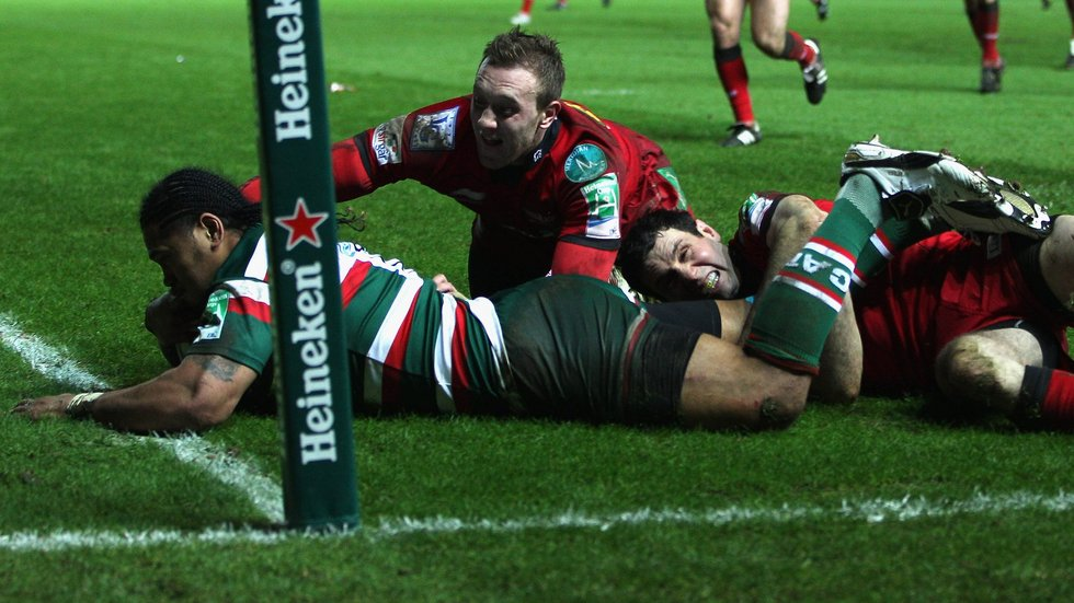 No stopping Alesana Tuilagi in the corner against the Scarlets 10 years ago today