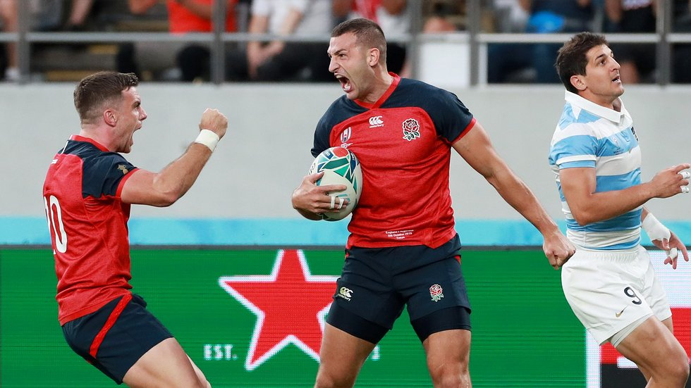 Jonny May already has tries against Argentina and Australia in the tournament