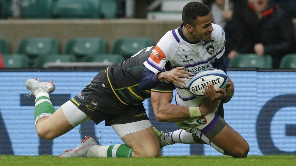Jordan Olowofela slid in to score a decisive try in the win over Saints at Twickenham