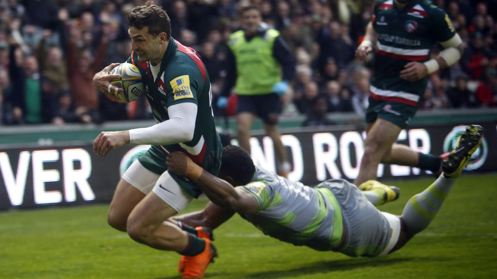 Jonny May reached a half-century mark for tries in Premiership Rugby