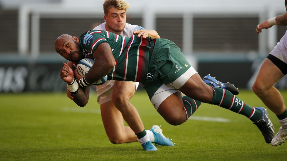 Nemani Nadolo was denied a debut try after a TMO replay against London Irish
