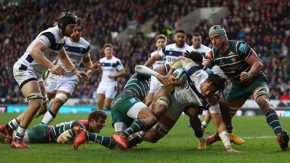 Tigers won the first encounter with Bristol this season on the day Sam Harrison waved goodbye