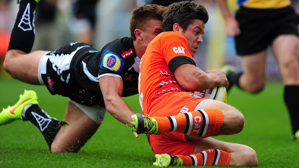 Anthony Allen was a tryscorer in the 2014/15 victory over Exeter Chiefs at Sandy Park
