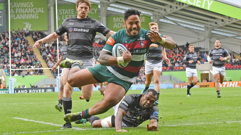 Manu's leap to score against Newcastle Falcons was chosen as the Tigers Image of the Season by supporters