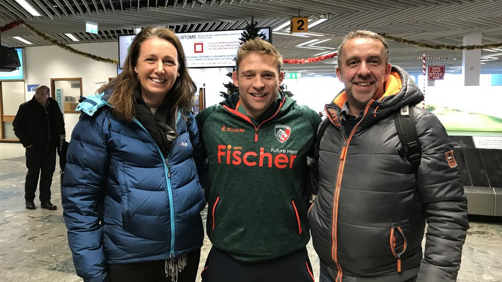 TigersLotto winner Mark Smyth and wife Abigail tickets to the Champions Cup game at Munster and travelled with the team