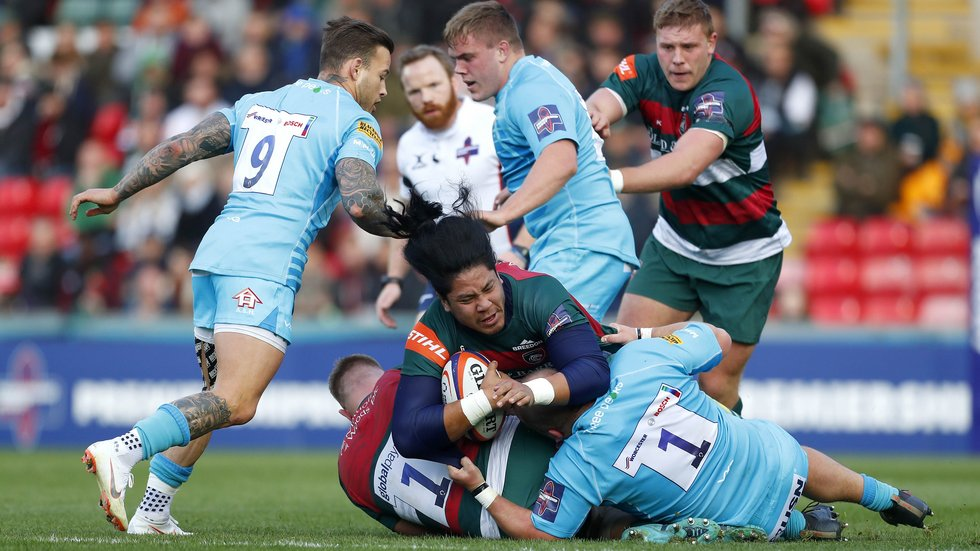 Fred Tuilagi tries to get Tigers some go-forward in the home defeat by the Warriors