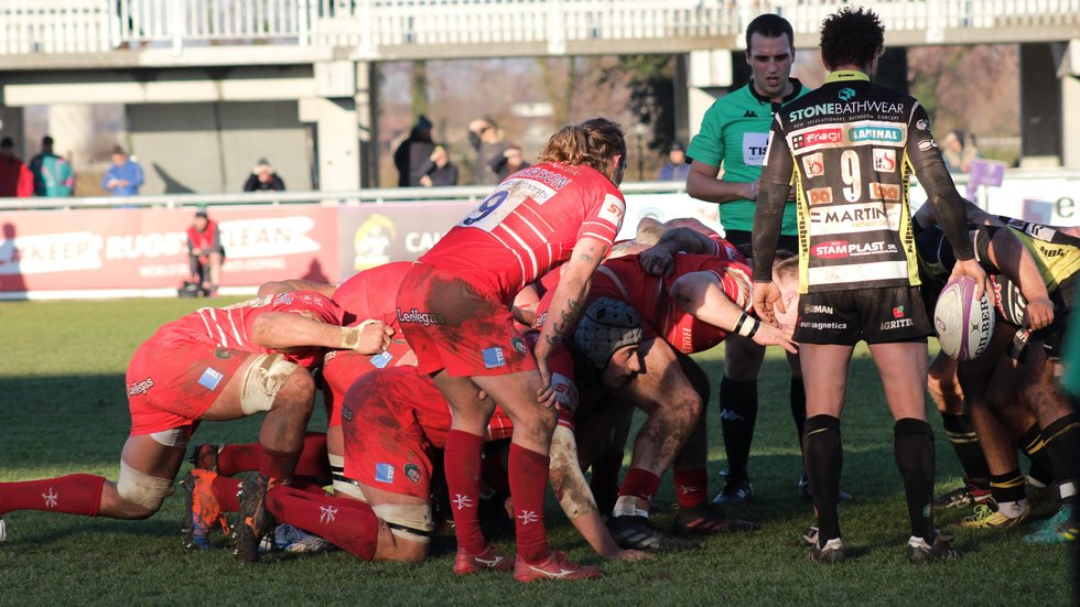 Tigers had to battle hard for a win over Calvisano just before Christmas