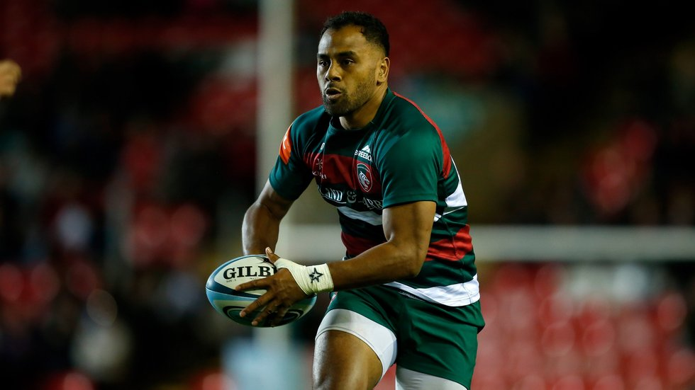 Telusa Veainu in attack for Tigers against London Irish during the 2018/19 pre-season fixture at Welford Road